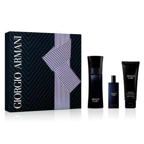 Armani Code Edt 75 ml + Edt 15 ml + Shower Gel 75 ml - Eau de toilette