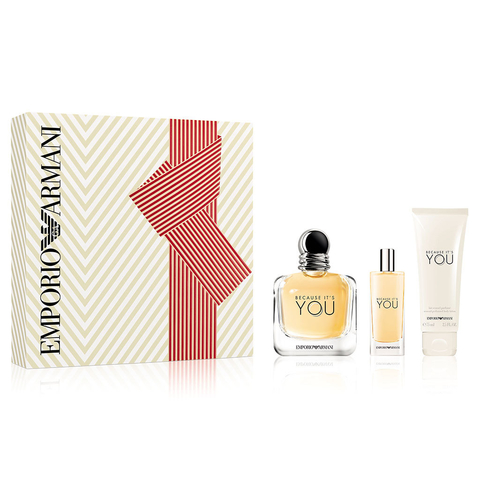 Armani Because It´s You EDP 100 ml + EDP 15 ml + Body Lotion 75 ml - Eau de Parfum