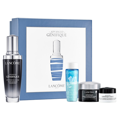 Genifique Advanced Concentre Microbioma - Serum 50 ml + Bi Facil 50 ml + Genifique cream 15 ml + Genifique yeux mini - Serum