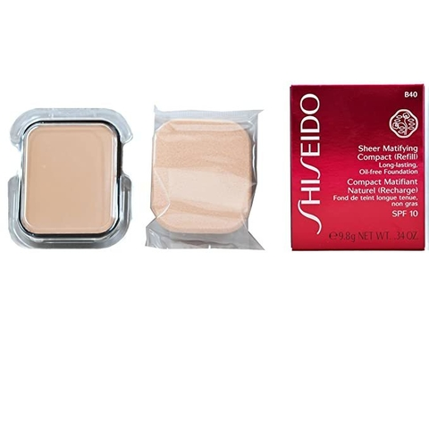 Shiseido Sheer Matifying Compact (Refill) Long Lasting Oil Free Fundation B 40 - Compacto