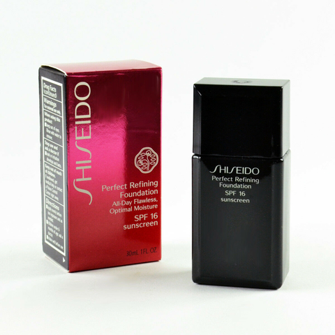 Shiseido Perfect Refining Foundation All Day Flawless Optimal Moisture SPF16 Very Deep Ivory I 100 - Fluido