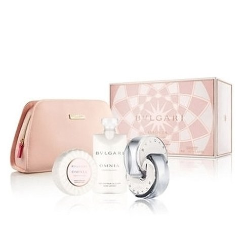 Bvlgari Omnia Crystalline Edt 65 ml + Body Lotion 75 ml + Jabón 75 Gr - Eau de Toilette