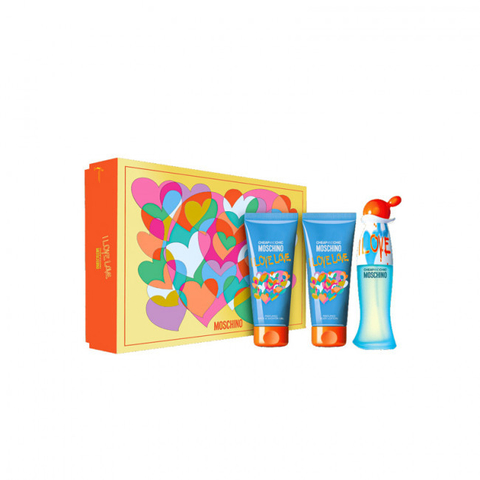 Moschino I Love Love EDT 50 ml + Shower Gel 100 ml + Body Lotion 100 ml - Eau de Toilette