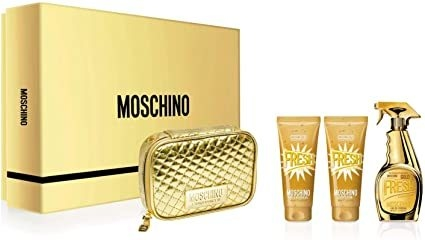 Moschino Fresh Gold EDP 100 ml + Shower Gel 100 ml + Body Lotion 100 ml + Pouch - Eau de Parfum