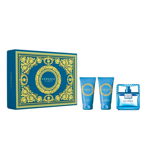 Versace Man Eau Fraiche EDT 50 ml + After Shave 50 ml + Shower Gel 50 ml - Eau de Toilette
