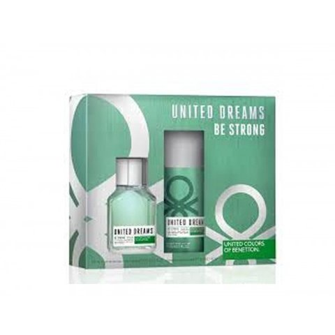 United Dream Be Strong Edt 100 ml + After Shave 75 ml - Eau de Toilette