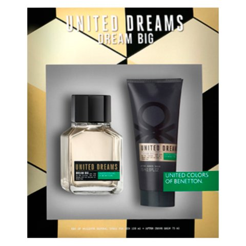 United Dream Dream Big Edt 100 ml + After Shave 75 ml - Eau de Toilette