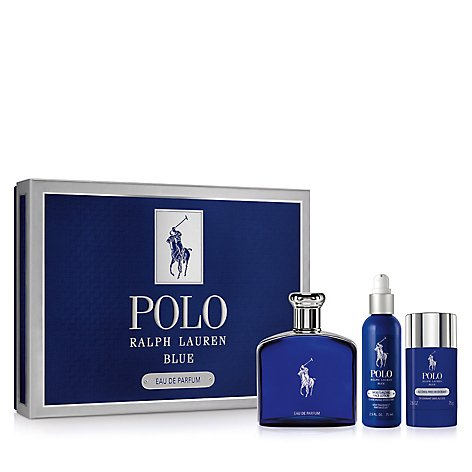 Polo Blue Edp 125 ml + Face Lotion 75 ml + Deo Stick 75 gr - Eau de Parfum