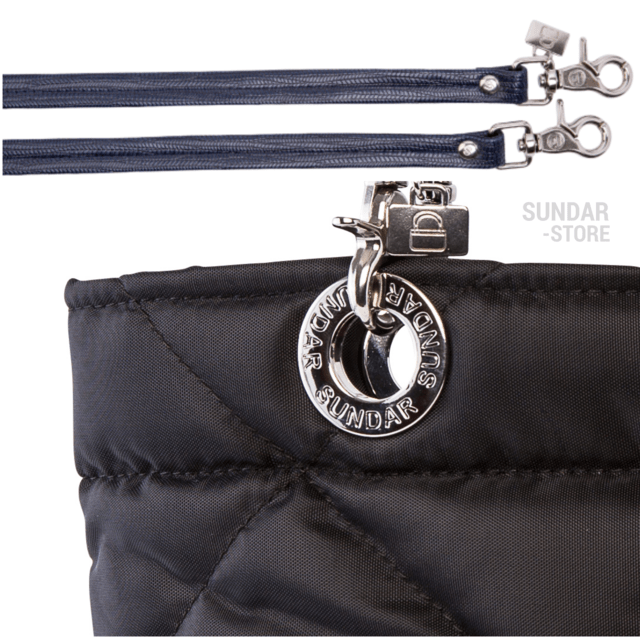 BLACK ROMBO SUNDAR ZIPPER BAG