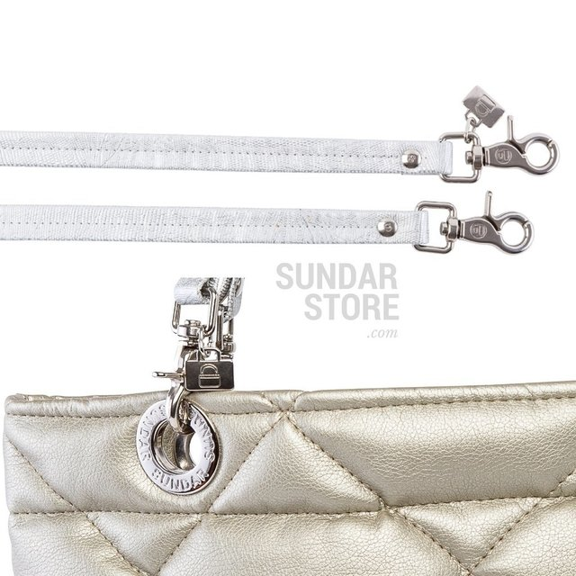 Image of GOLDEN ROMBO SUNDAR ZIPPER METALIC BAG
