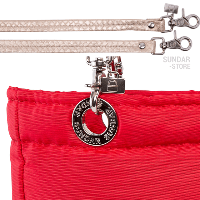 Image of RED SUNDAR, TOP ZIPPER, SHOULDER BAG