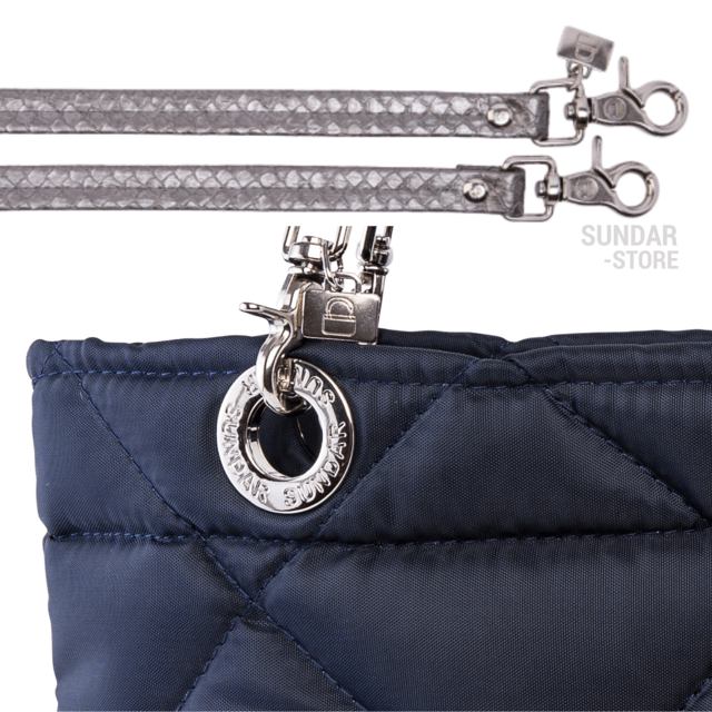 NAVY BLUE ROMBO SUNDAR ZIPPER BAG