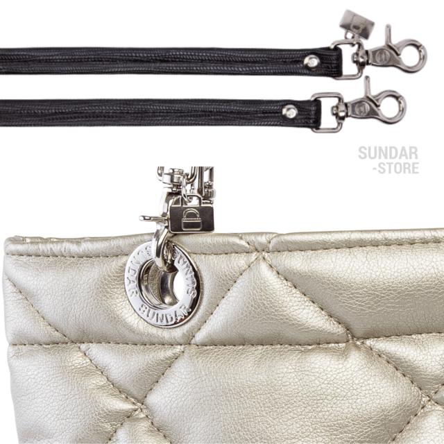 GOLDEN ROMBO SUNDAR ZIPPER METALIC BAG - online store