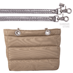 Image of BEIGE SUNDAR ZIPPER BAG
