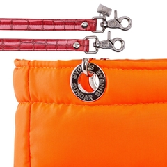 NEON ORANGE, TOP ZIPPER, SHOULDER BAG - Bolsas Sundar Originales