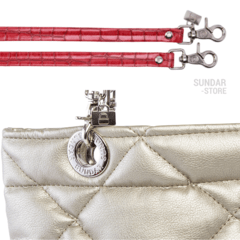 GOLDEN ROMBO SUNDAR ZIPPER METALIC BAG