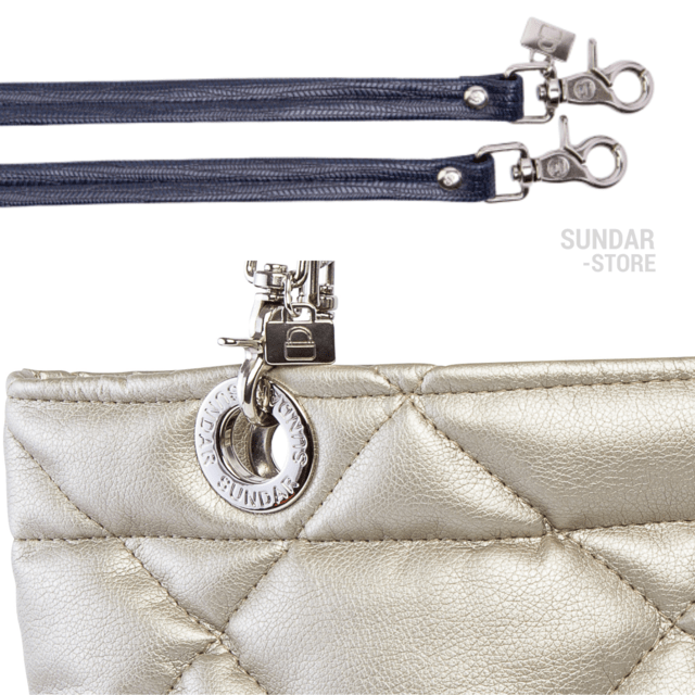 GOLDEN ROMBO SUNDAR ZIPPER METALIC BAG - buy online