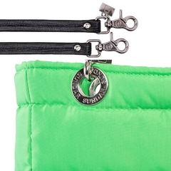 Image of NEON GREEN, TOP ZIPPER, SHOULDER BAG