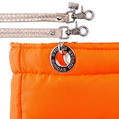 Image of NEON ORANGE, TOP ZIPPER, SHOULDER BAG
