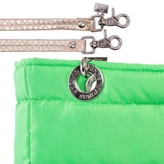 NEON GREEN, TOP ZIPPER, SHOULDER BAG