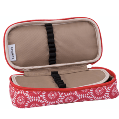 PENCIL CASE FLOWERS PATERN / CORAL on internet