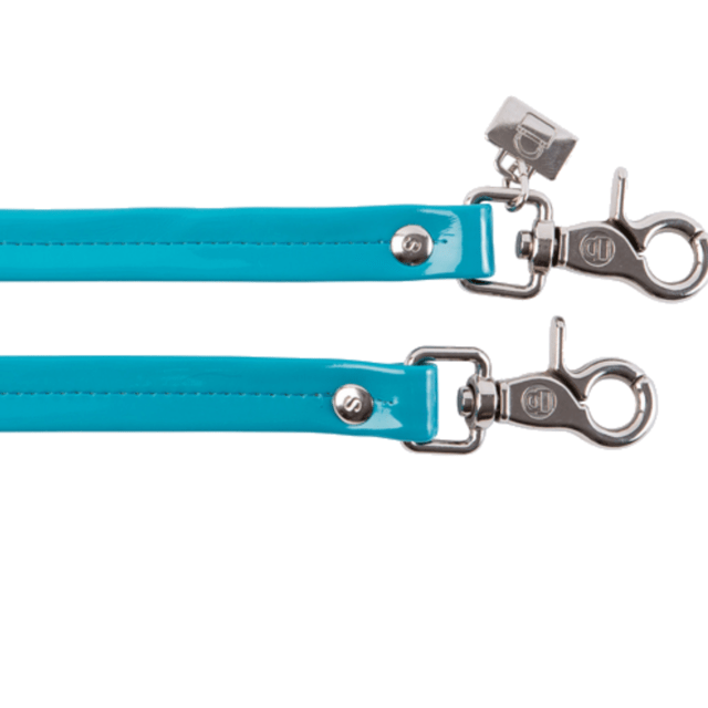 AQUA PATENT LEATHER HANDLES - buy online