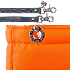 NEON ORANGE, TOP ZIPPER, SHOULDER BAG