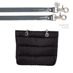 BLACK SMALL SUNDAR ZIPPER BAG