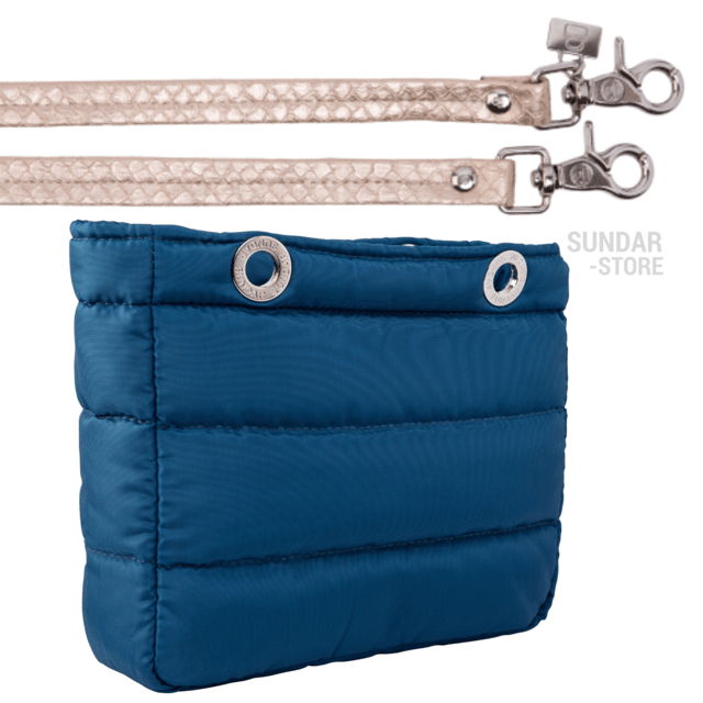 COBALT BLUE SUNDAR, TOP ZIPPER, SHOULDER BAG