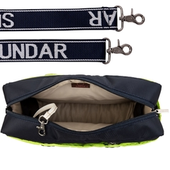 Image of NAVY BLUE - NEON YELLOW SUNDAR CROSS BODY MEDIUM