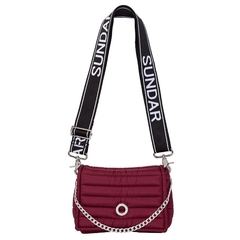 ANDREA CROSSBODY CHERRY WITH TWO STRAPS (CHAIN STRAP/ ADJUSTABLE STRAP)