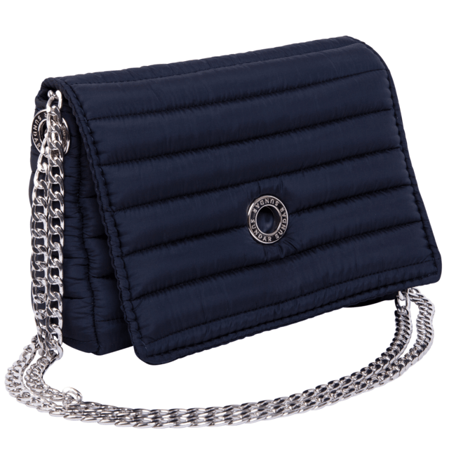 ANDREA CROSSBODY, CHAINE STRAP, NAVY BLUE