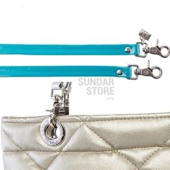 GOLDEN ROMBO SUNDAR ZIPPER METALIC BAG - Bolsas Sundar Originales