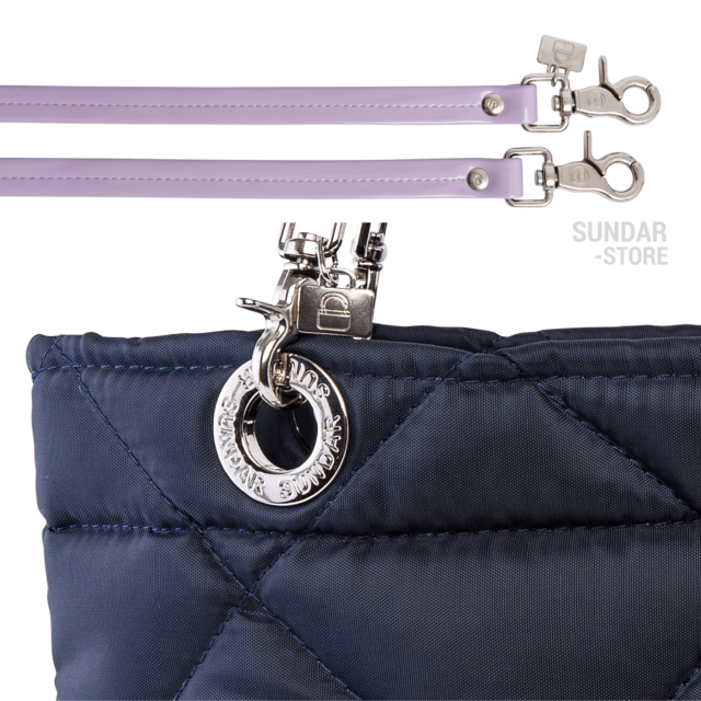 Image of NAVY BLUE ROMBO SUNDAR ZIPPER BAG