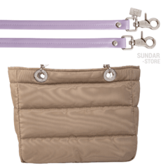 BEIGE SUNDAR ZIPPER BAG - buy online