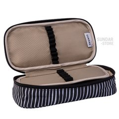 PENCIL CASE LINES PATERN BLACK/WHITE - buy online