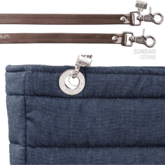 Image of DENIM SUNDAR, TOP ZIPPER, SHOULDER BAG