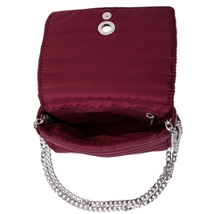 Image of ANDREA CROSSBODY CHERRY WITH TWO STRAPS (CHAIN STRAP/ ADJUSTABLE STRAP)