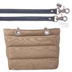 BEIGE SUNDAR ZIPPER BAG on internet