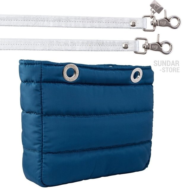 Image of COBALT BLUE SUNDAR, TOP ZIPPER, SHOULDER BAG