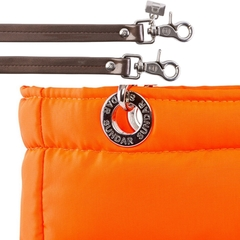 NEON ORANGE, TOP ZIPPER, SHOULDER BAG - online store