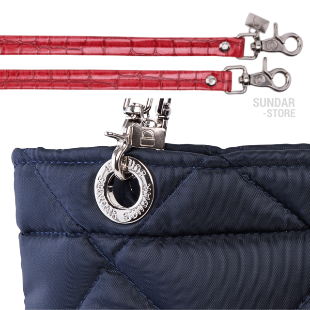 NAVY BLUE ROMBO SUNDAR ZIPPER BAG - online store