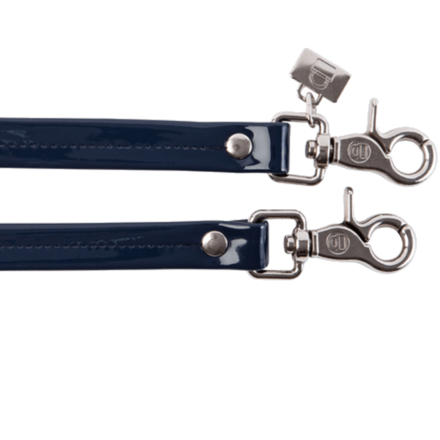 NAVY BLUE PATENT LEATHER HANDLES