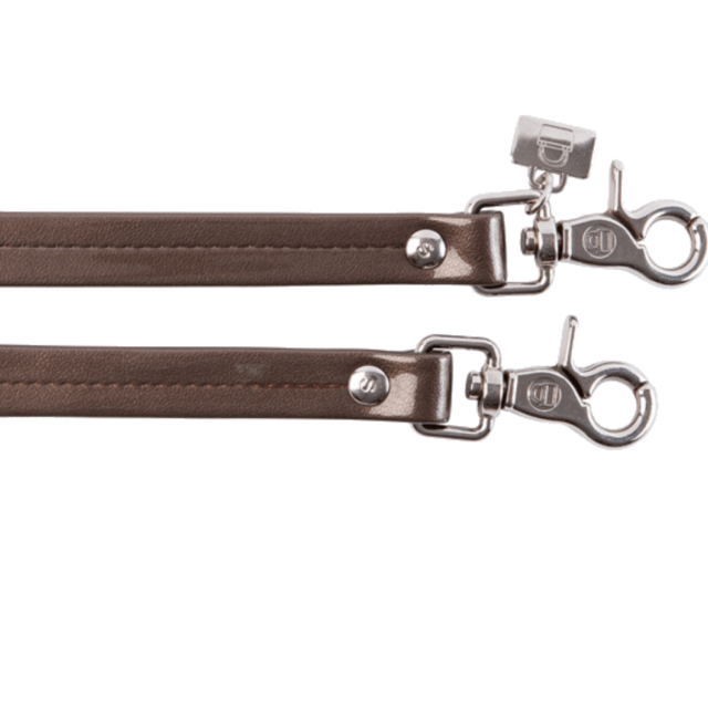 BROWN PATENT LEATHER HANDLES