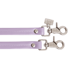 LILAC PATENT LEATHER HANDLES