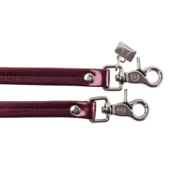 GRAPE PATENT LEATHER HANDLES