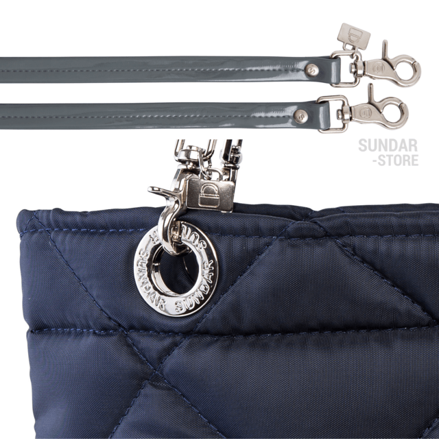 NAVY BLUE ROMBO SUNDAR ZIPPER BAG on internet