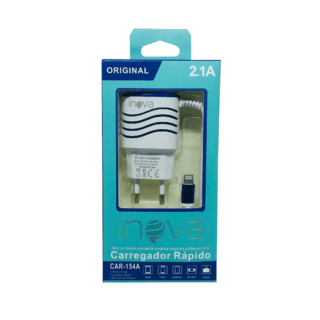 LA#8007 - Carregador INOVA 2.1 A - iPhone Usb Original