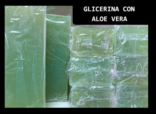 Jabon de glicerina con Aloe Vera