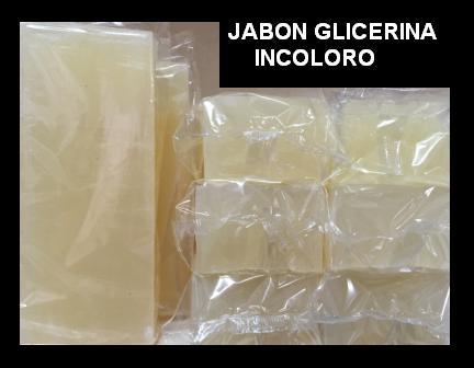 Jabon de Glicerina incolora